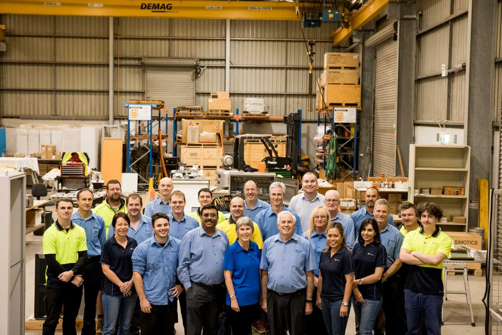 The full I S Systems team with capabilities in a variety of engineering and manufacturing applications