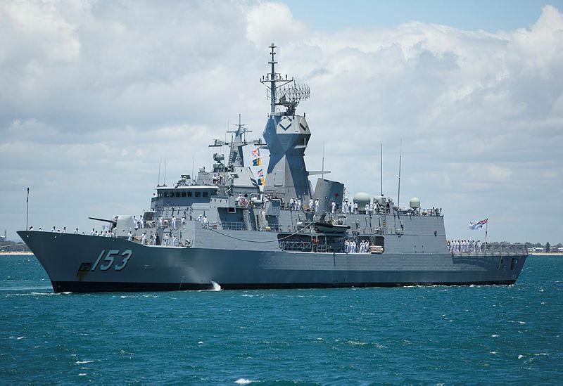 ANZAC Class frigate at sea