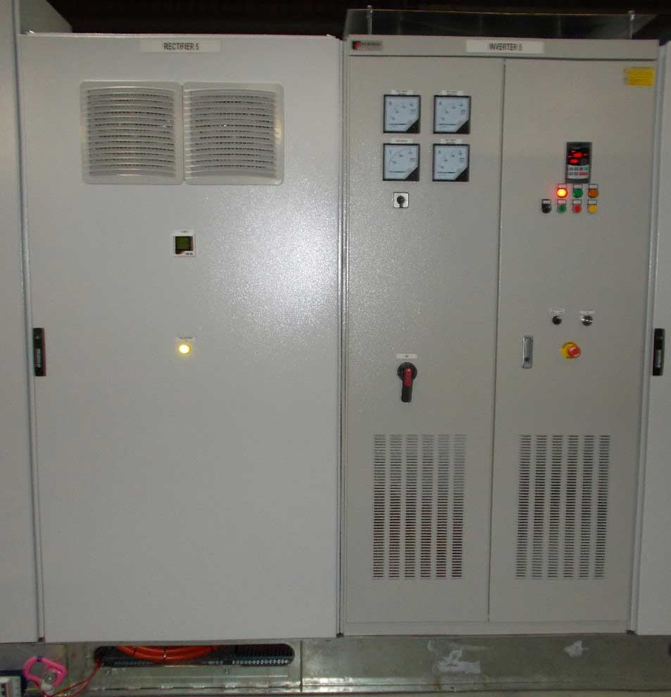 Rectifier and inverter for motor test rig