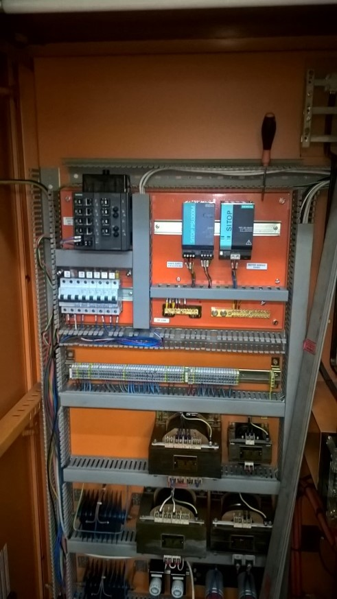 Power supply for copper tube line PLC & Drive upgrade manufactured by I S Systems