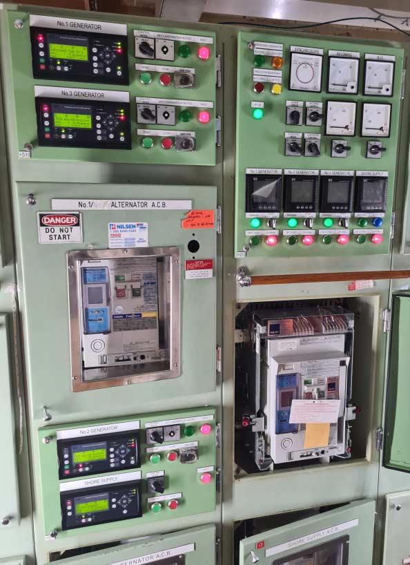 Generator Control Panels, Instrumentation & alternator